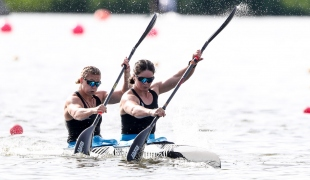 2019 ICF Sprint World Cup 1 Poznan Poland Aimee FISHER-Caitlin RYAN New Zealand