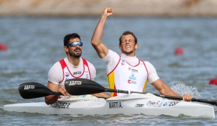 2020 ICF Canoe Sprint World Cup Szeged Hungary Albert MARTI - Roi RODRIGUEZ