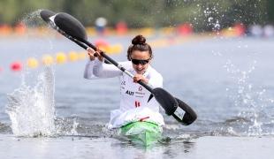 2021 ICF Canoe Sprint Olympic Qualifier Barnaul Ana-Roxana LEHACI, Viktoria SCHWARZ