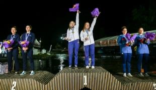 c2 women ceremony 2017 icf canoe wildwater world championships pau france 099