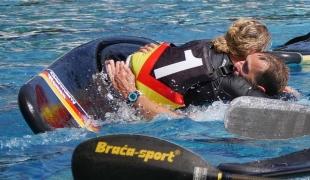 celebration germany women braca paddle icf canoe polo world games 2017