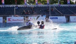 centre sprint men italy chinese taipei icf canoe polo world games 2017