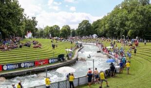 2018 ICF Canoe Slalom World Cup 3 Augsburg Germany EIS Kanal