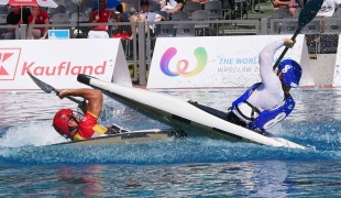 france men centre sprint tackle spain icf canoe polo world games 2017
