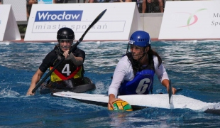 france women pursuit by germany icf canoe polo world games 2017