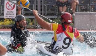 germany men passing spain defending icf canoe polo world games 2017