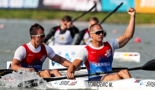 2018 ICF Canoe Sprint World Cup 1 Szeged Hungary M Tomicevic - M Zoric SRB