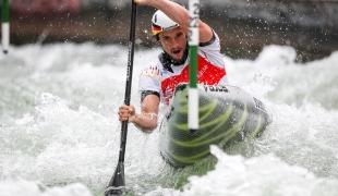 2018 ICF Canoe Slalom World Cup 3 Augsburg Germany Sebastian Schubert GER