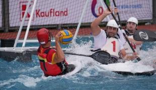 spain men shooting against poland icf canoe polo world games 2017