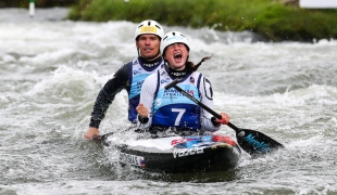 2018 ICF Canoe Slalom World Cup 1 Liptovsky Slovakia STANOVSKA Sona - BATIK Jan SVK