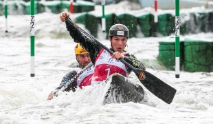 2018 ICF Canoe Slalom World Cup 2 Krakow Tereza FISEROVA - Jakub JANE