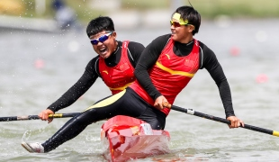 2018 ICF Canoe Sprint World Cup 1 Szeged Hungary W Lin - L Zhang CHN