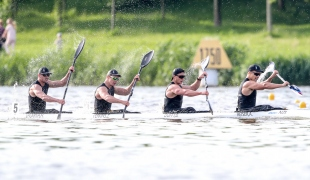 2019 ICF Sprint World Cup 1 Poznan Poland K4 Men New Zealand