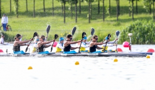 2019 ICF Sprint World Cup 1 Poznan Poland K4 Women New Zealand