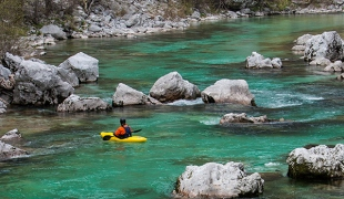 Paddle100 best canoe kayak stand up paddling SUP secret locations planet world tourism travel Soca River Slovenia
