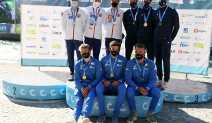 2021 ICF Canoe Slalom Junior & U23 World Championships Ljubjlana U23 C1 Mens Teams Medallists