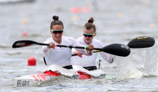 2019 ICF Sprint World Cup 1 Poznan Poland Volha KHUDZENKA-Maryna LITVINCHUK Belarus