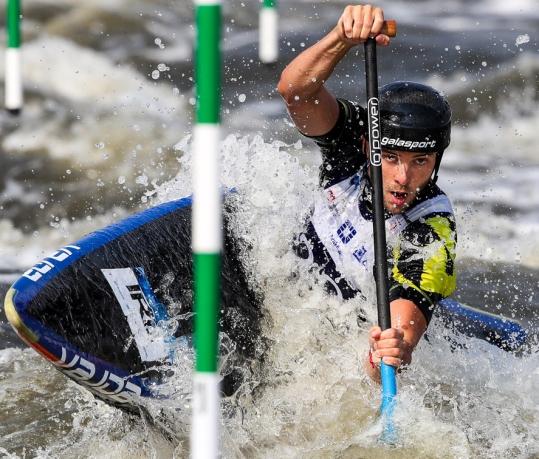 2018 ICF Canoe Slalom World Cup 2 Krakow Liam JEGOU IRL