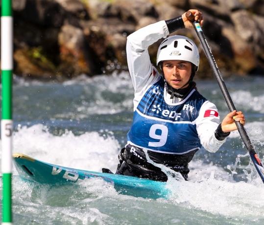 Australian canoe slalom paddler Noemie Fox