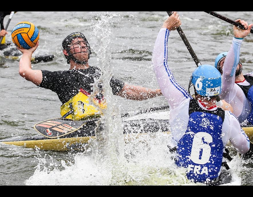 Canoe Polo Team Shot