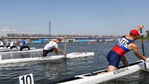 2021 ICF Canoe Sprint World Cup Barnaul C1 Men 5000m Start