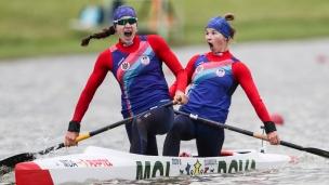 2021 Canoe Sprint European Olympic Qualifier Daniela COCIU, Maria OLARASU