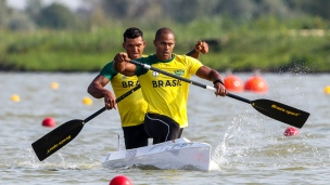 2019 ICF Canoe Sprint World Championships Szeged Hungary Erlon DE SOUZA SILVA, Isaquias QUEIROZ DOS SANTOS