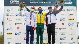 2021 ICF Canoe Slalom World Cup Markkleeberg Extreme Slalom Medallists