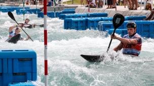 2018 ICF Canoe Slalom World Championships Rio Brazil K1 Men's Team Great Britain