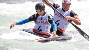 2018 ICF Canoe Slalom World Cup 3 Augsburg Germany Aleksandra Stach - Marcin Pochwala POL
