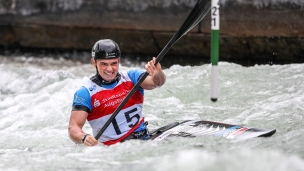 2018 ICF Canoe Slalom World Cup 3 Augsburg Germany Bradley Forbes-Cryans GBR