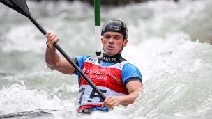 2018 ICF Canoe Slalom World Cup 3 Augsburg Germany Bradley Forbes-Cryans GBR
