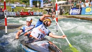 2018 ICF Canoe Slalom World Cup 3 Augsburg Germany Jasmin Schornberg - Thomas Becker GER