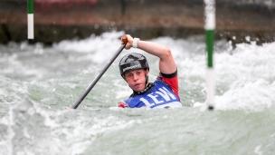 2018 ICF Canoe Slalom World Cup 3 Augsburg Germany Kimberley Woods GBR