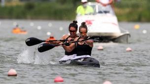 2018 ICF Canoe Sprint World Cup 1 Szeged Hungary L Carrington - K Imrie NZL