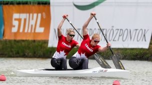 2018 ICF Canoe Sprint World Cup 1 Szeged Hungary L Vincent-lapointe - K Vincent CAN