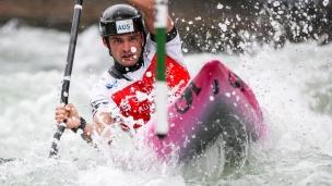 2018 ICF Canoe Slalom World Cup 3 Augsburg Germany Lucien Delfour AUS