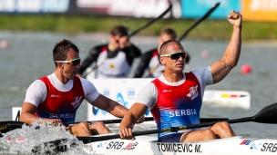 2018 ICF Canoe Sprint World Cup 1 Szeged Hungary M Tomicevic - M Zoric SRB