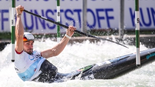 2018 ICF Canoe Slalom World Cup 3 Augsburg Germany Sideris Tasiadis GER