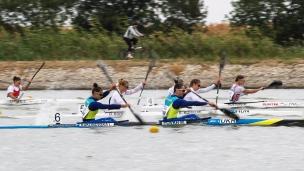 2020 ICF Canoe Sprint World Cup Szeged Hungary K2 Women 500m – Semi-final I