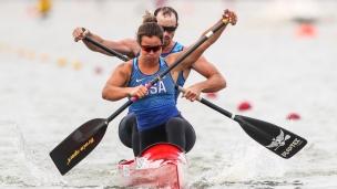 2020 ICF Canoe Sprint World Cup Szeged Hungary Nevin HARRISON - Ian ROSS