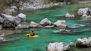 Paddle100 best canoe kayak stand up paddling SUP secret locations planet world tourism travel Soca River Slovenia