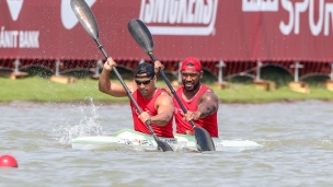 2019 ICF Canoe Sprint World Championships Szeged Hungary Pita TAUFATOFUA, Malakai AHOKAVA