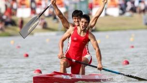 2019 ICF Canoe Sprint World Championships Szeged Hungary Qiang LI, Song XING