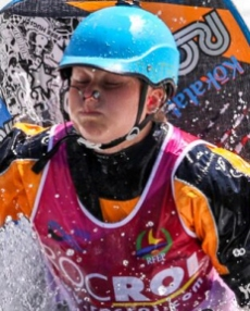 USA Sage Donnelly kayak freestyle Sort 2019