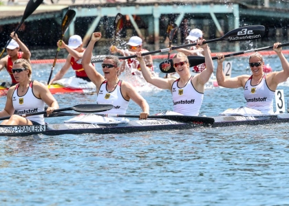 German women K4 500 Duisburg 2019