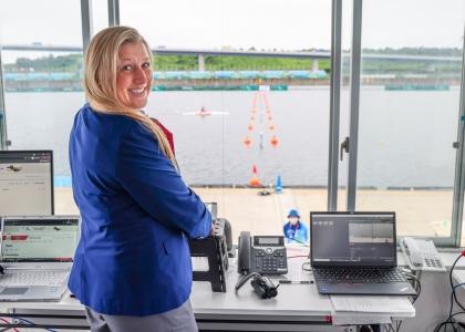 Official starter 2021 paracanoe Paralympics Erin Schaus