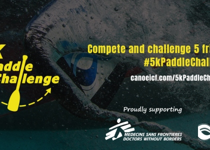5k Paddle Challenge Canoe Kayak Virtual Competition Online Entry Doctors without Borders / Médecins Sans Frontières Charity
