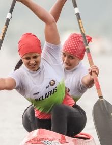 Alena Nazdrova and Nadzeya Makarchanka (BLR) C2 Women Junior