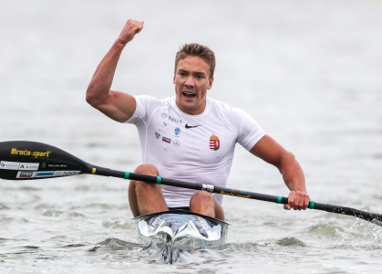 Hungary Balint Kopasz K1 500 Szeged canoe sprint world cup 2020